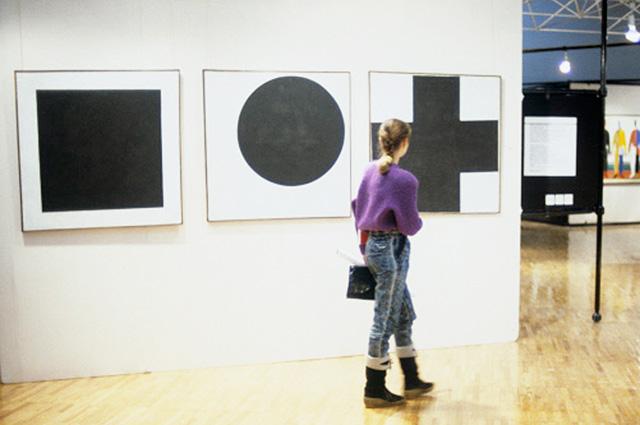 Выставка работ Казимира Малевича в Третьяковской галерее.