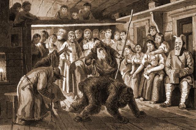 В XVIII веке на Святки проводилось много игр и забав.