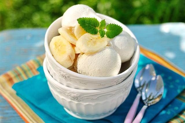 Творожно-банановое мороженое