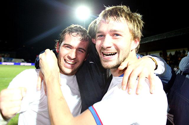 Кержаков и Сычёв, отборочный матч Евро-2008 Россия - Андорра.