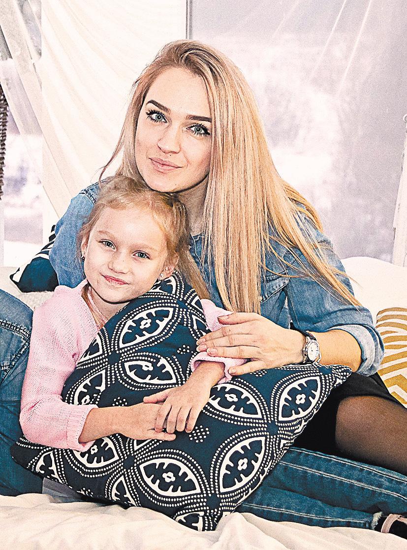 Екатерина с дочерью.