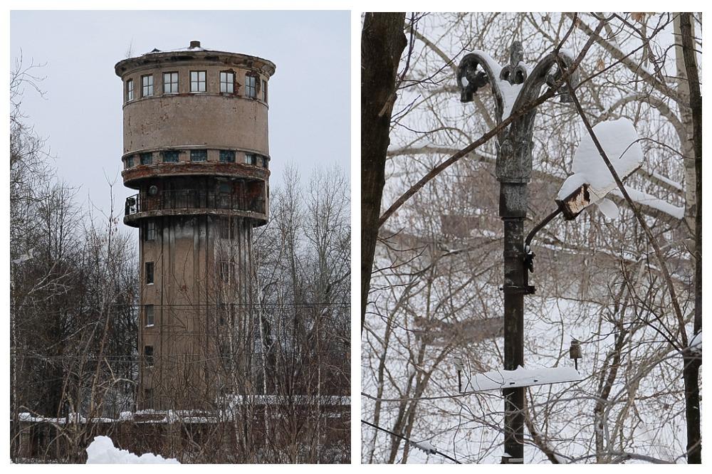 Во время экскурсии можно увидеть водонапорную башню и старинный столб.