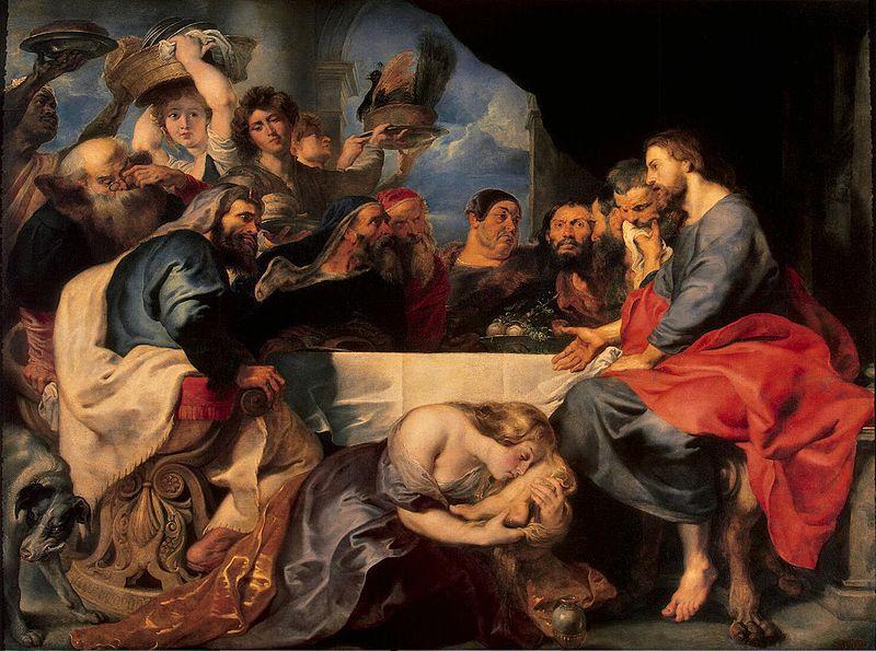 Рубенс. «Пир в доме Симона Фарисея», ок. 1618