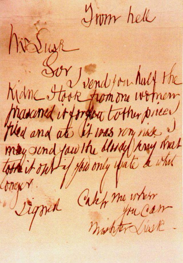 Письмо Из ада, отправленное в посылке вместе с почкой одной из жертв