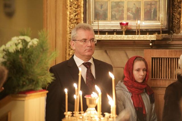 Иван Белозерцев в храме