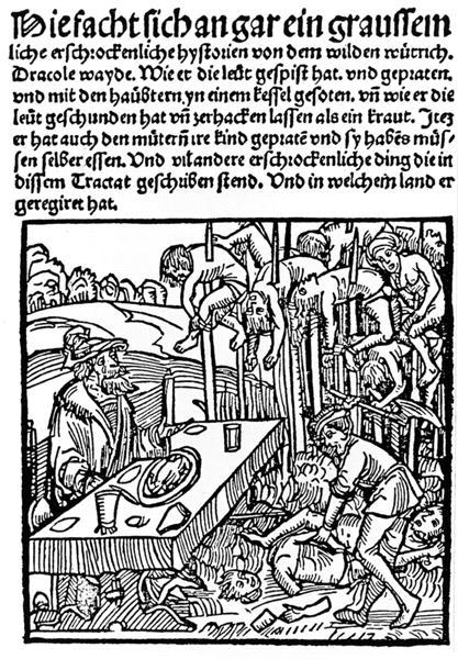 Страница из памфлета о Дракуле, переиздание 1499 г.