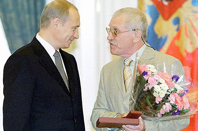 Владимир Путин и Александр Митта. 2008 год