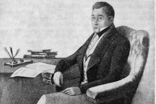 Александр Грибоедов. Акварельный портрет работы Петра Каратыгина.