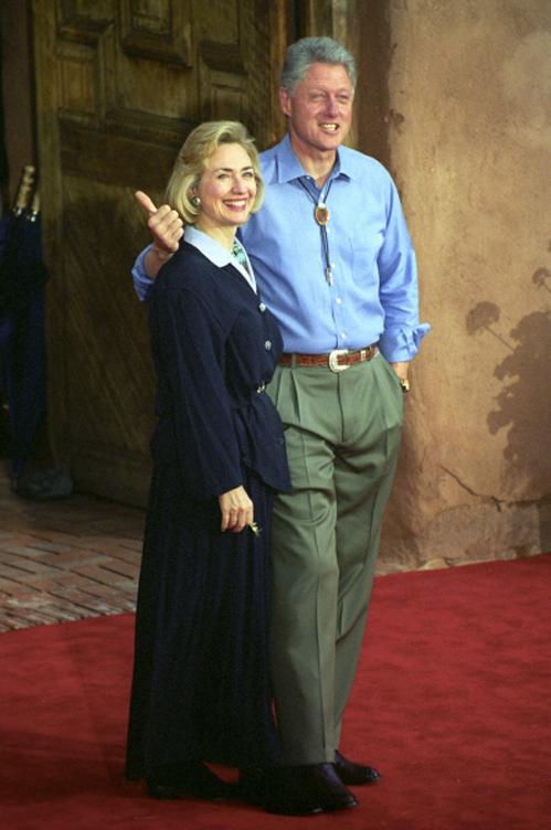 Хиллари и Билл Клинтон. 1997 год.