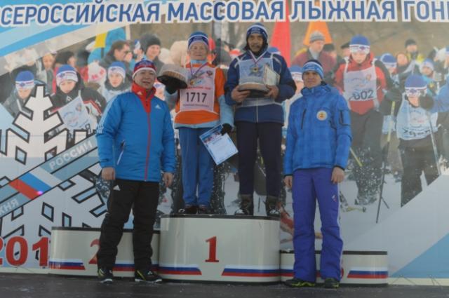 самые опытные лыжники на Лыжне России в Чебоксарах