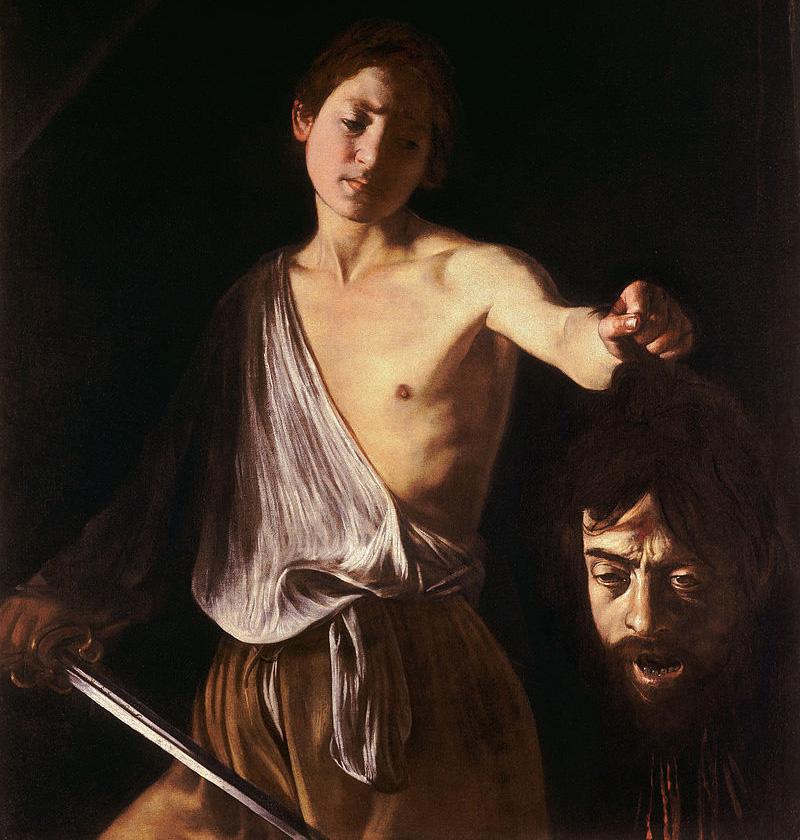 «Давид с головой Голиафа». Караваджо, 1606-1607, Галерея Боргезе, Рим