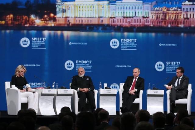 Центральным событием форума стало пленарное заседание с мировыми лидерами.