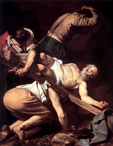 Микеланджело Меризи да Караваджо. Распятие Святого Петра