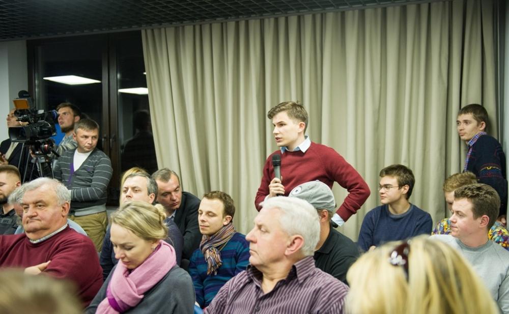 В дискуссии Yunasko приняли участие и студенты