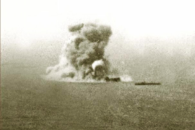 Взрыв броненосца «Петропавловск».