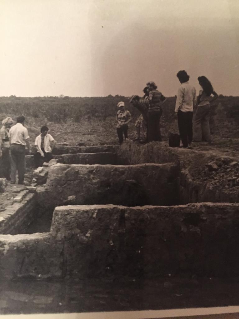 На раскопках золотоордынского города на реке Терек.