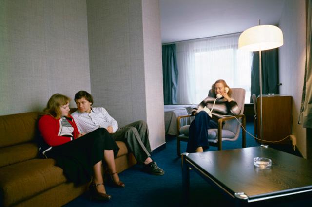 В одном из номеров гостиницы Космос, 1980 г