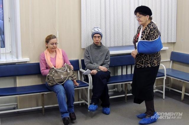В очереди к врачу те, кто пострадал от недавнего гололёда