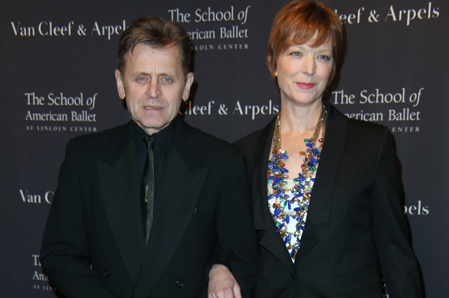 Михаил Барышников с женой Лизой Райнхарт. 2014 г.