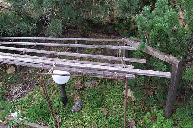 Каркас для укрытия альпийских растений.