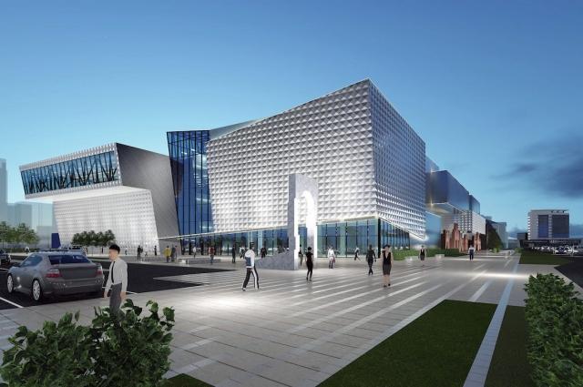 Эскиз нового торгово-развлекательного центра на ул. Ершова.