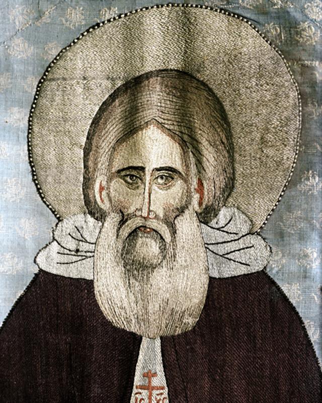 Пелена с изображением Сергия Радонежского, первая четверть XV века