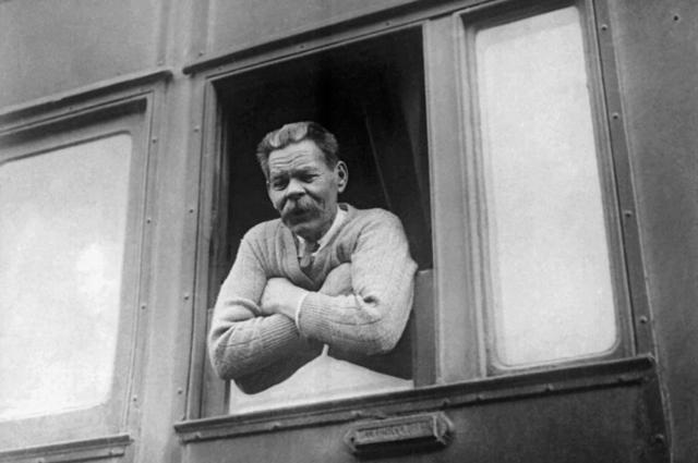 Максим Горький, вернувшийся из Италии в СССР. 31 мая 1928 года.
