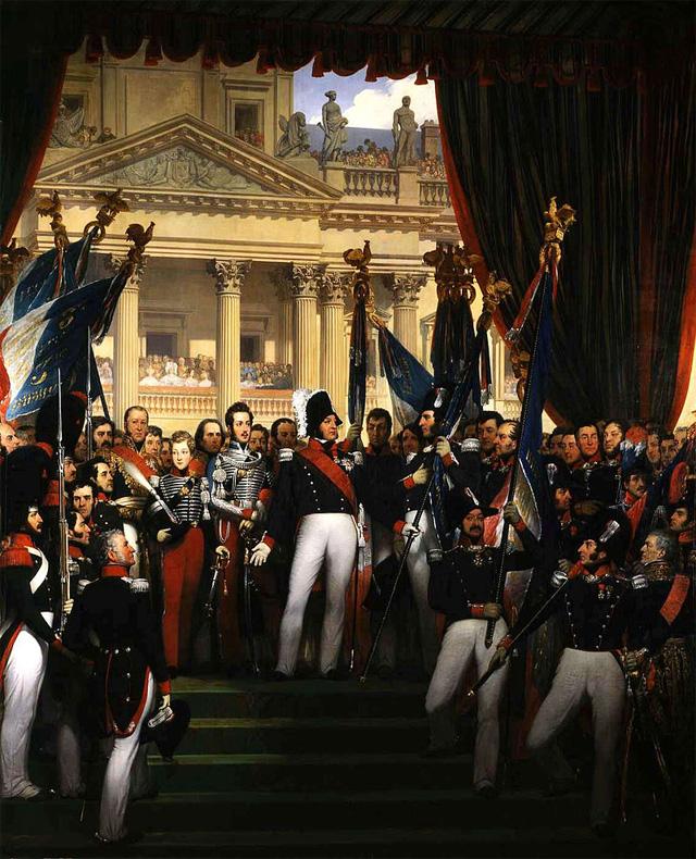 Национальная гвардия, Париж, 1830 год (картина 1834 года).
