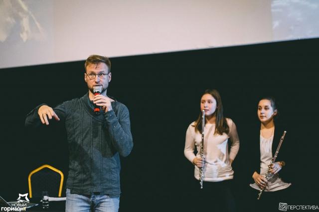 Во время мастер-класса звукорежиссера Василия Филатова