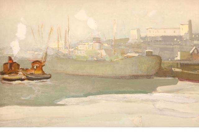 Цвет снега в живописи Бориса Ряузова обладает загадочной притягательностью.