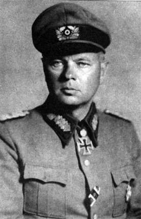 Гельмут фон Паннвиц в немецкой униформе
