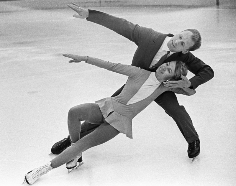 Людмила Белоусова и Олег Протопопов, 1965 г.