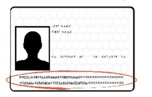 Машиносчитываемый раздел в паспорте