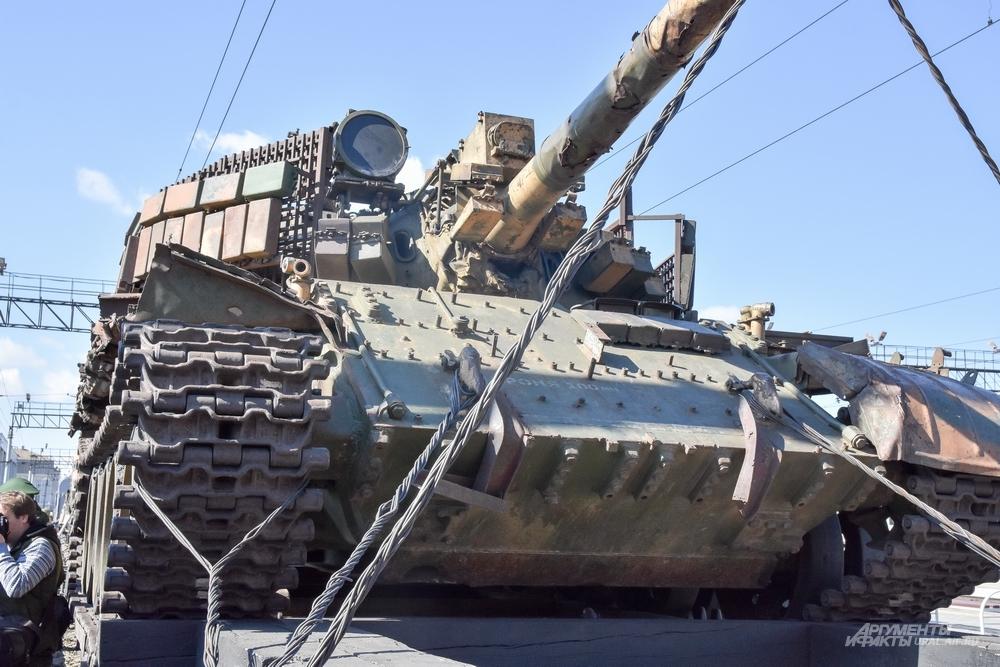 Танк Т-55, попавший в Сирию из Грузии.