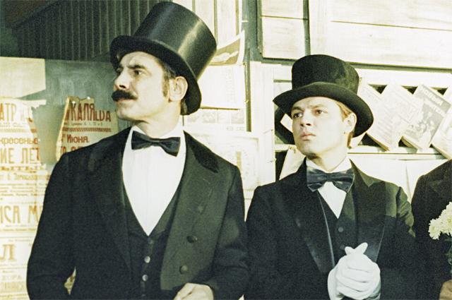 Александр Панкратов-Чёрный и Игорь Скляр в фильме «Мы из джаза». 1983 год.