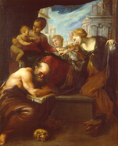 Пьетро Фаччини. Мистическое материнство святой Екатерины.