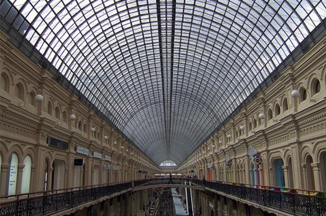 Металло-стеклянные перекрытия ГУМа конструкции Шухова, Москва, 2007
