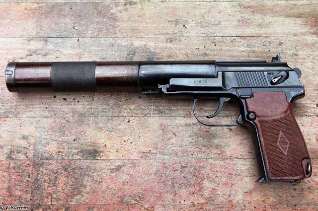 Бесшумный пистолет ПБ, созданный на основе пистолета Макарова