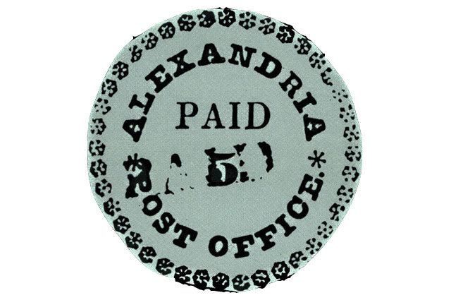 Почтовая марка Голубая Александрия