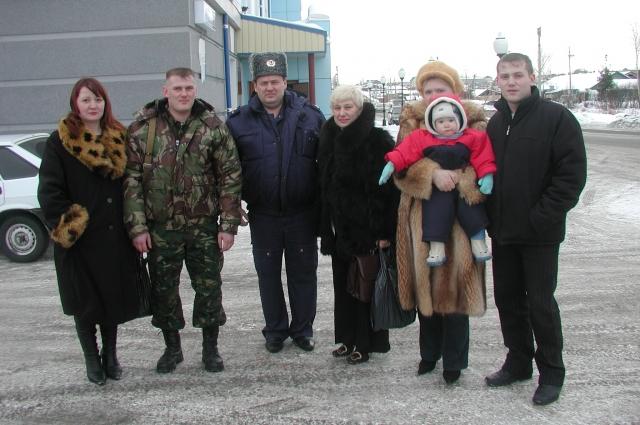 Павел Широков перед отправкой в Чечню