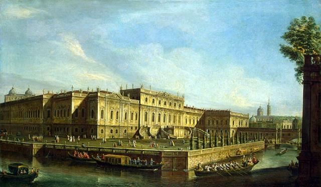 Летний дворец Елизаветы Петровны. М. И. Махаев (1756 г.)