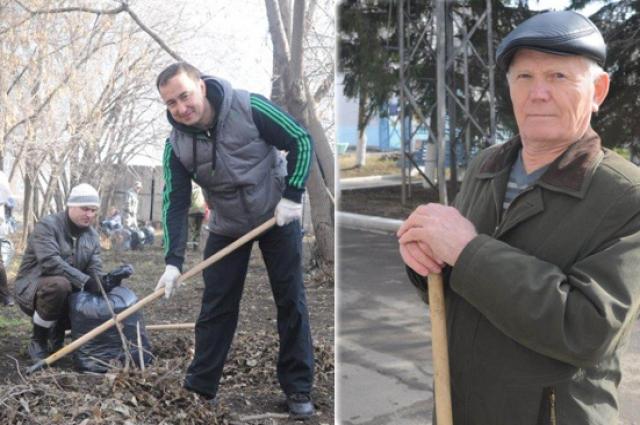 Ветераны также поддерживают уборку родного города.