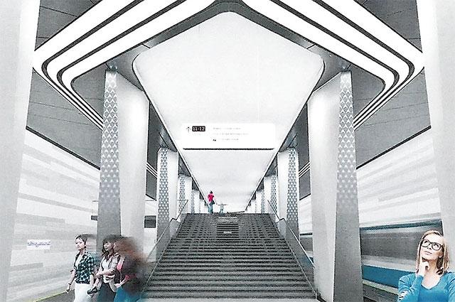 Так будет выглядеть станция «Авиамоторная» Большой кольцевой линии.