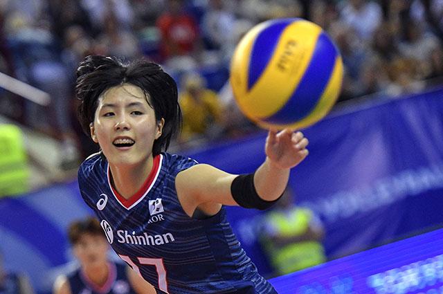 Игрок сборной Кореи по волейболу Ли Чэён.