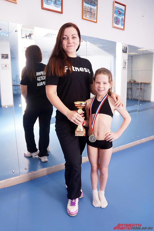 Марина Байгарова и ее маленькая воспитанница.