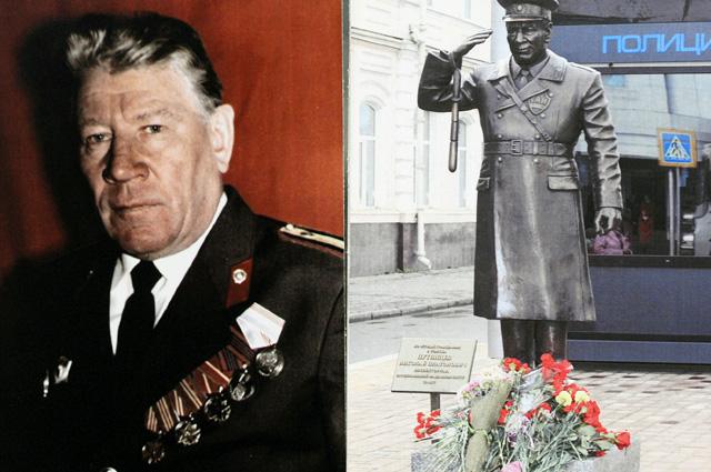 Памятник почётному гражданину г. Томска прапорщику милиции Н. Путинцеву.