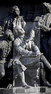 Державин на Памятнике «1000-летие России» в Великом Новгороде.