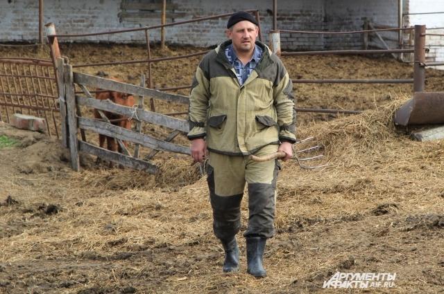 Михаил Линник уверен, что местная корова лучше приезжей!