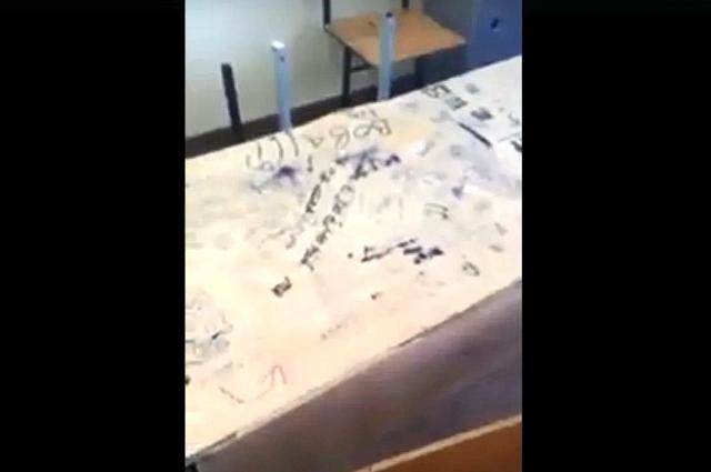 Кадр из скандального видео Елены Носовой.
