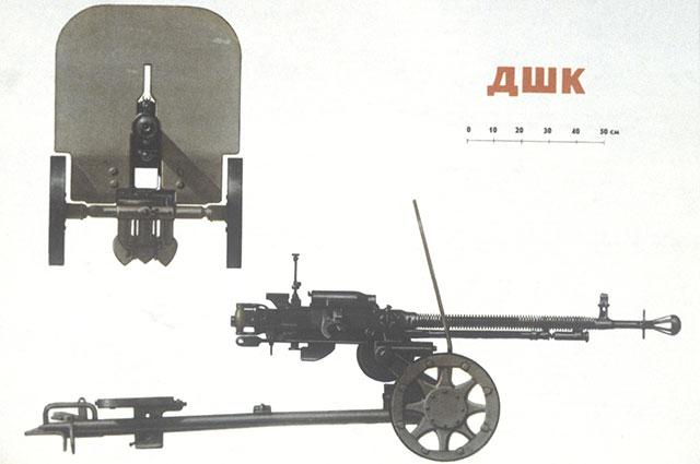 Станковый пулемет ДШК 12,7-мм образца 1938 года.